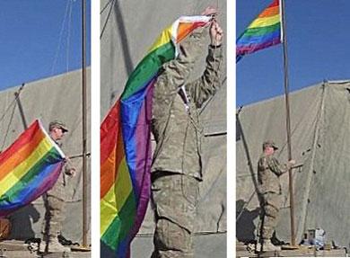 Soldats de l'armée gay