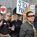 l'Eglise protestante Luthérienne a défilé à la Stockholm Pride